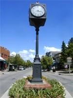 View of Northville's Main Street & Clock