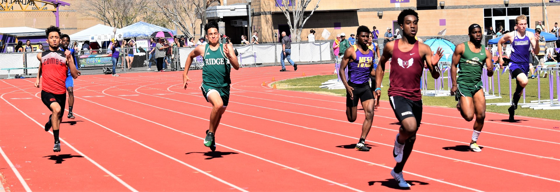 Boys sprint relay race