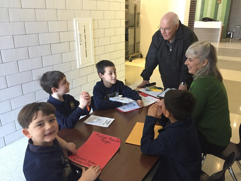 Brother Donald Visits Holy Cross, Meets Primary Students Featured Photo