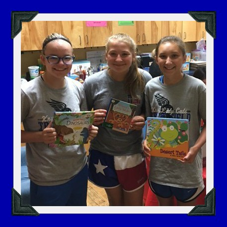 Students At Krum Middle School Donated A Variety Of Children S Books To Local Nursery And Family Shelter