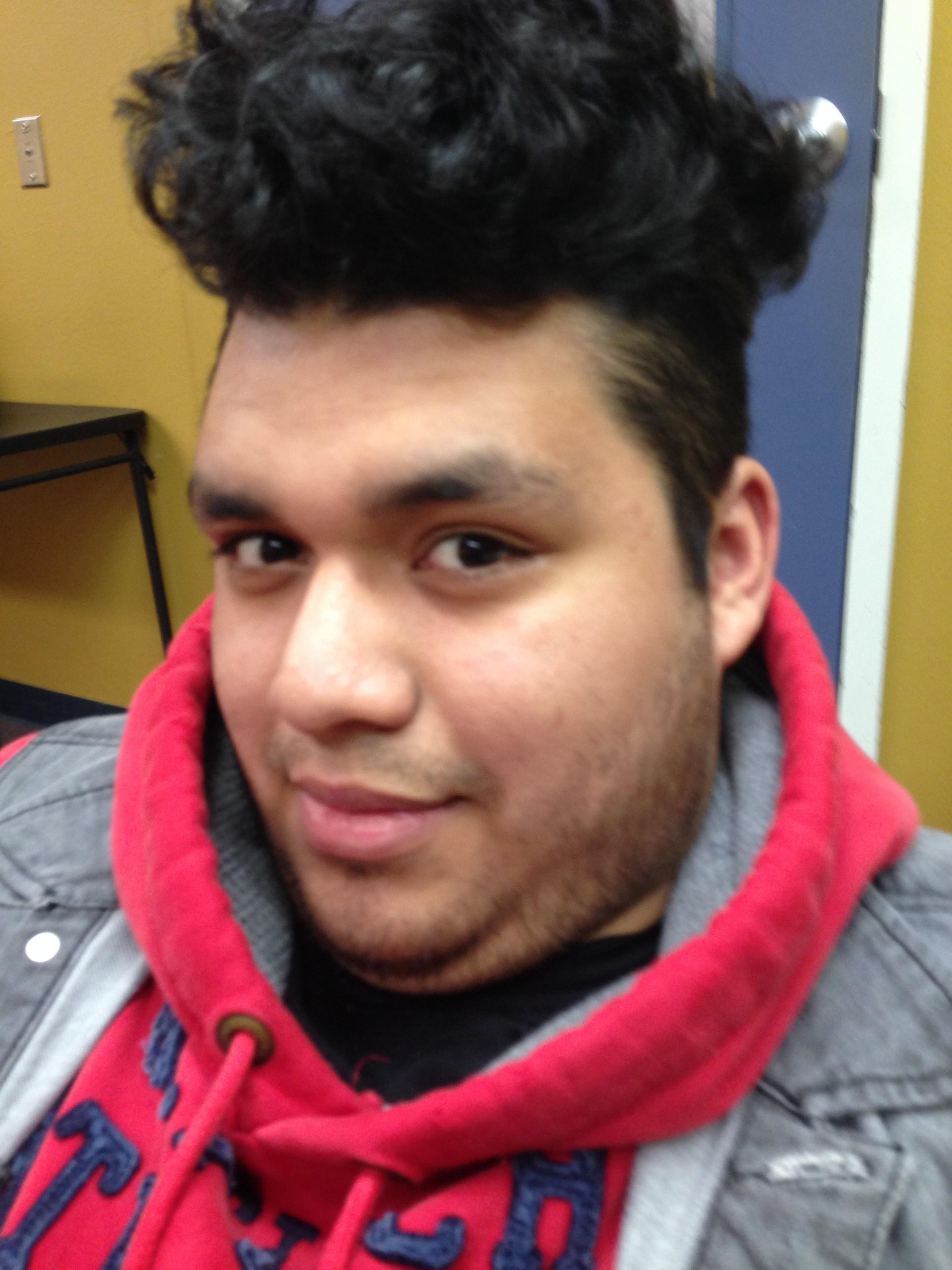 Jonathon Mendez goofing around.