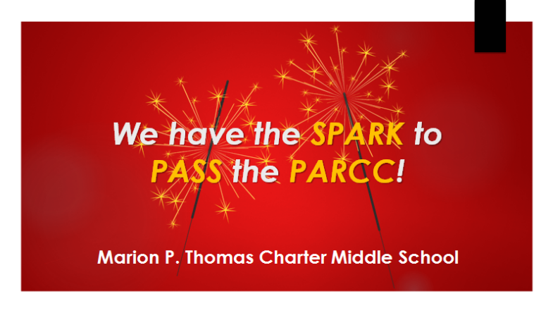 Middle School scholars have the Spark to Pass the PARCC! Thumbnail Image
