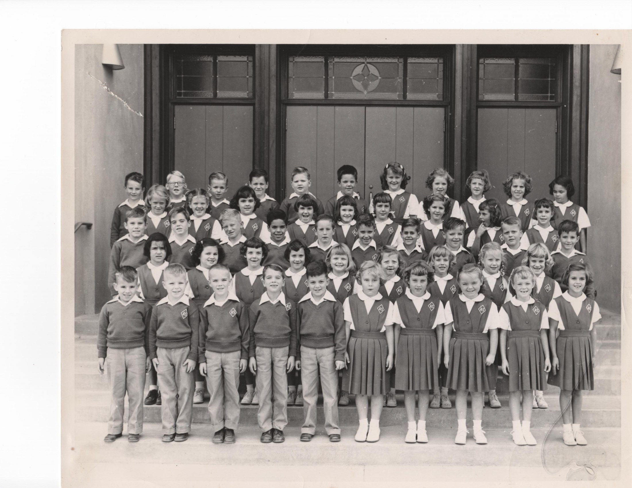 Our First Grade picture in front of the Church.