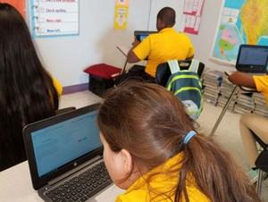 Bush's Student Using Laptop