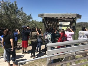 high school students attended a field trip to the Aransas National Wildlife Refuge