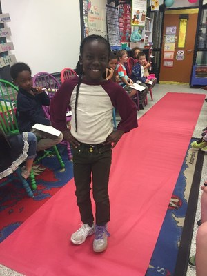 Caitlyn McFarland's first graders recently took advantage of Wacky Wednesday and had a fashion show to learn about adjectives.