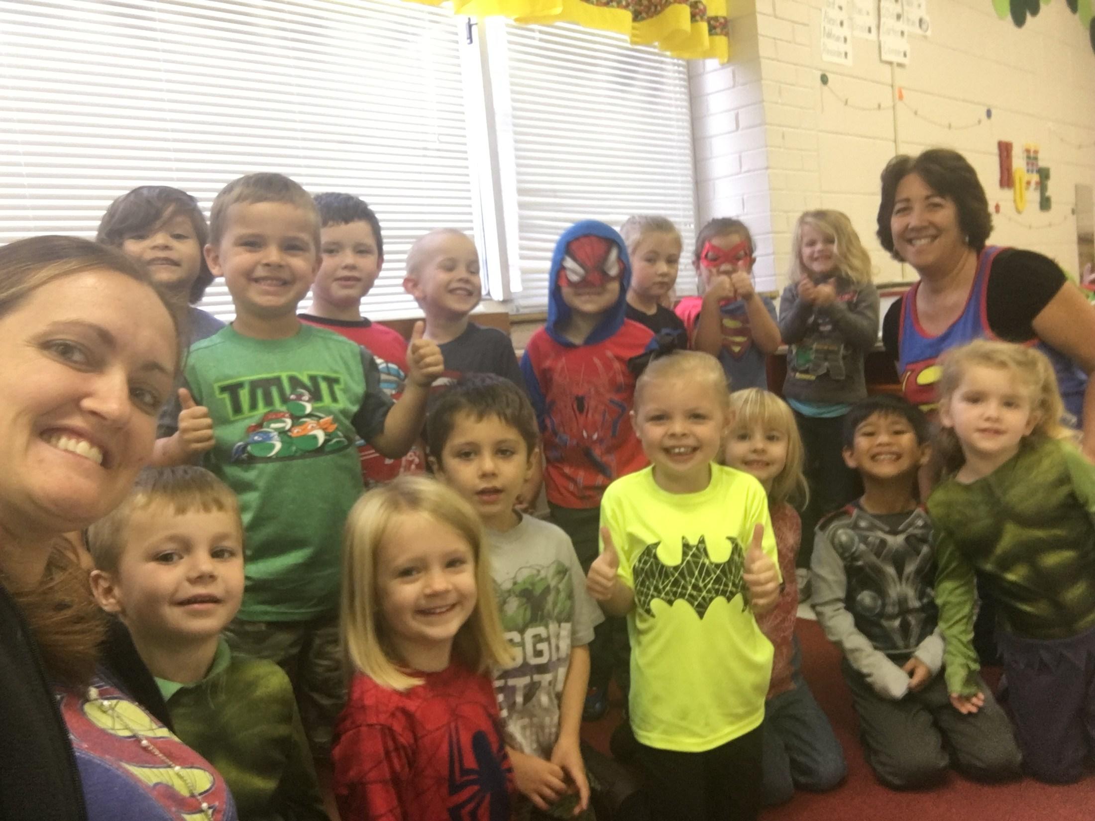 superhero group picture