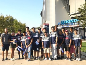 UCHS Special Olympics Soccer Team in front of Red Bull Arena
