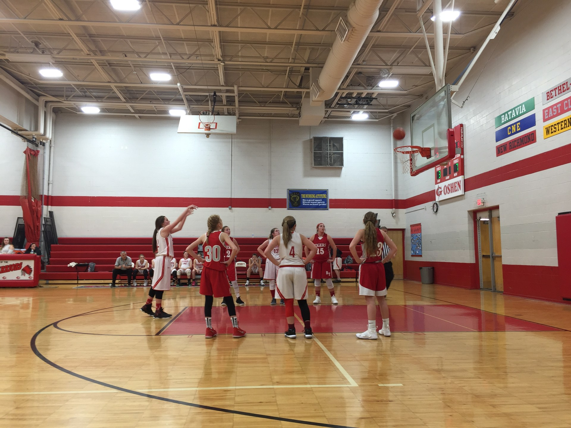 8th grader Madison Hornsby shooting a free throw
