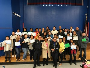 Parent breakfast workshop on gangs & bullying group photo