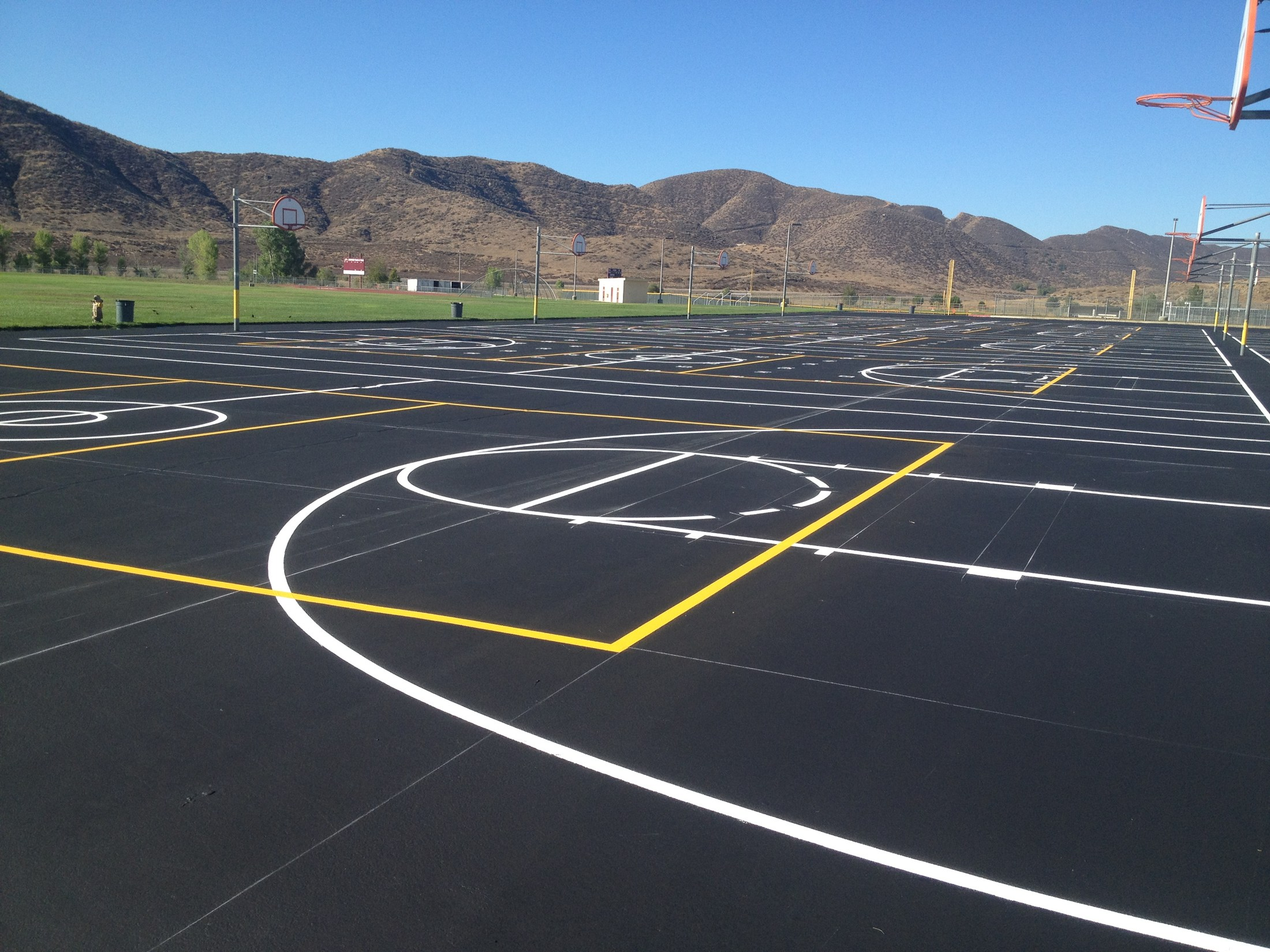 Resurfaced & Repainted blacktop at West Valley