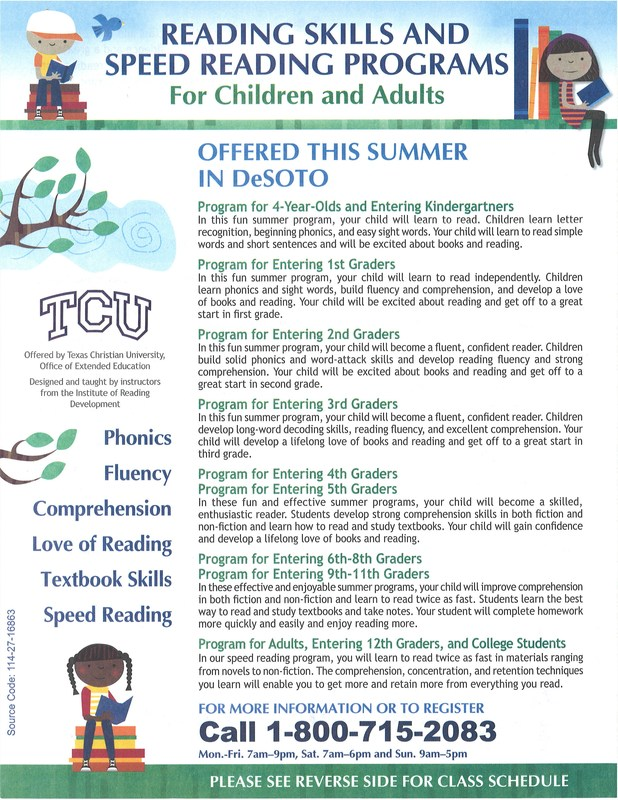 Summer Reading Enrichment Program