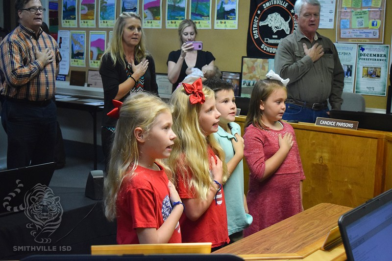 Students Lead Pledge at November Board Meeting Thumbnail Image