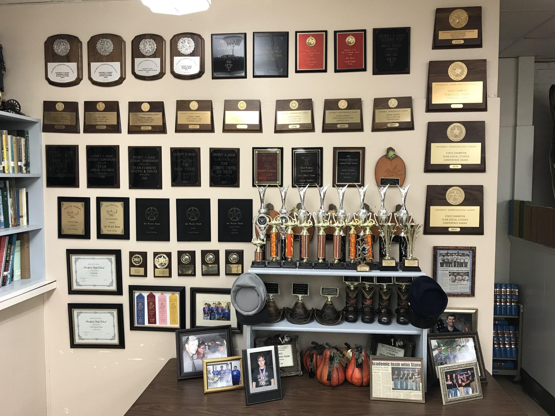 My trophy wall 2007 - 2017