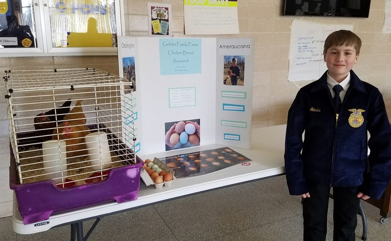 Bruce Gehrke with Science Fair project