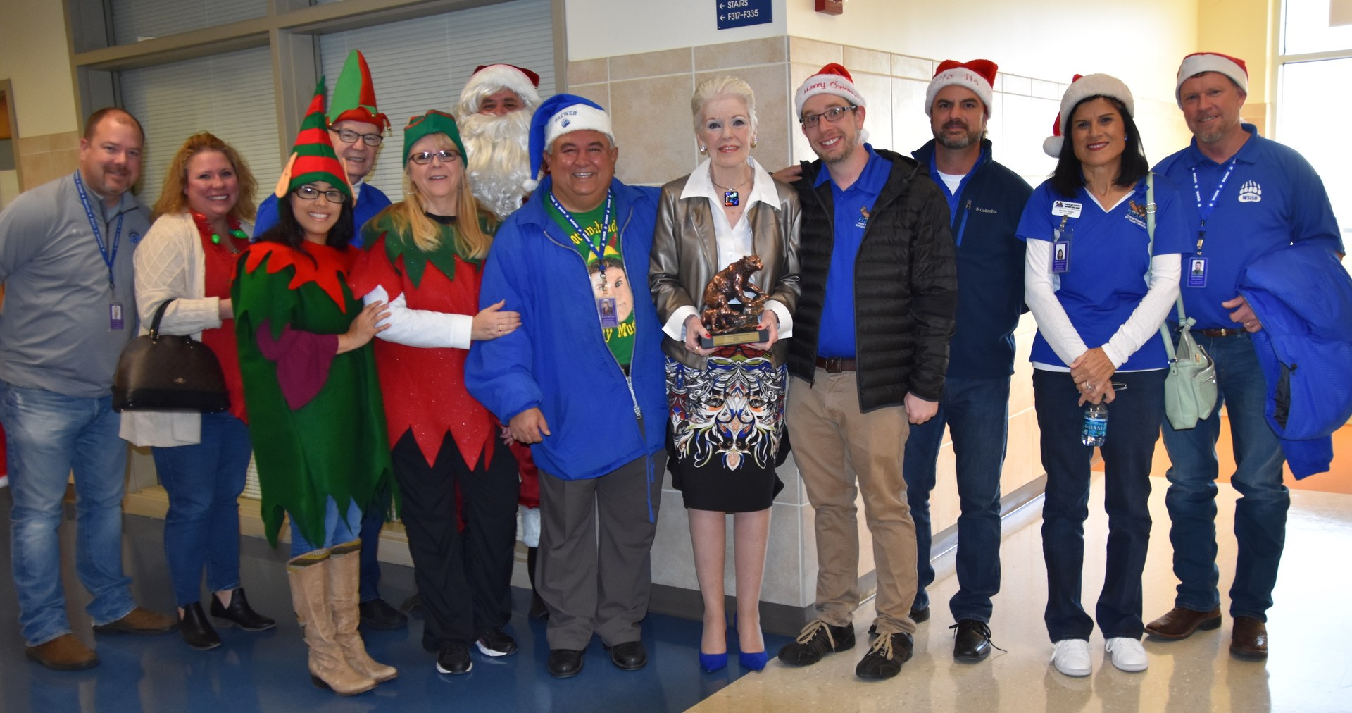 The Foundation recognized AT&T with a Bear Trophy. The company awarded the Foundation with a $25,000 grant that funded STEM grants for Brewer High School educators.