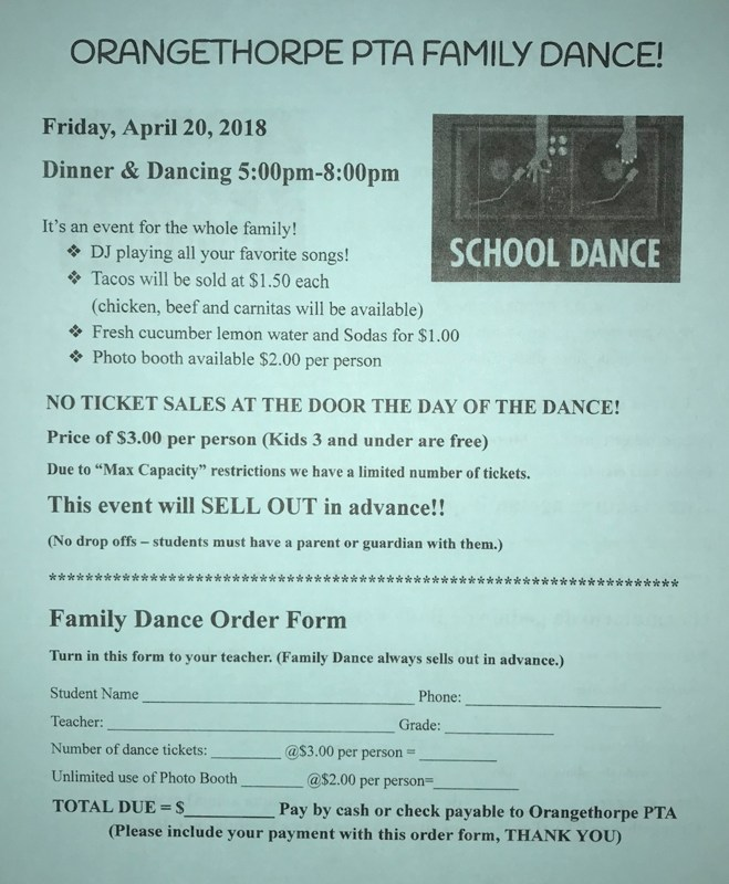 PTA Family Dance Featured Photo