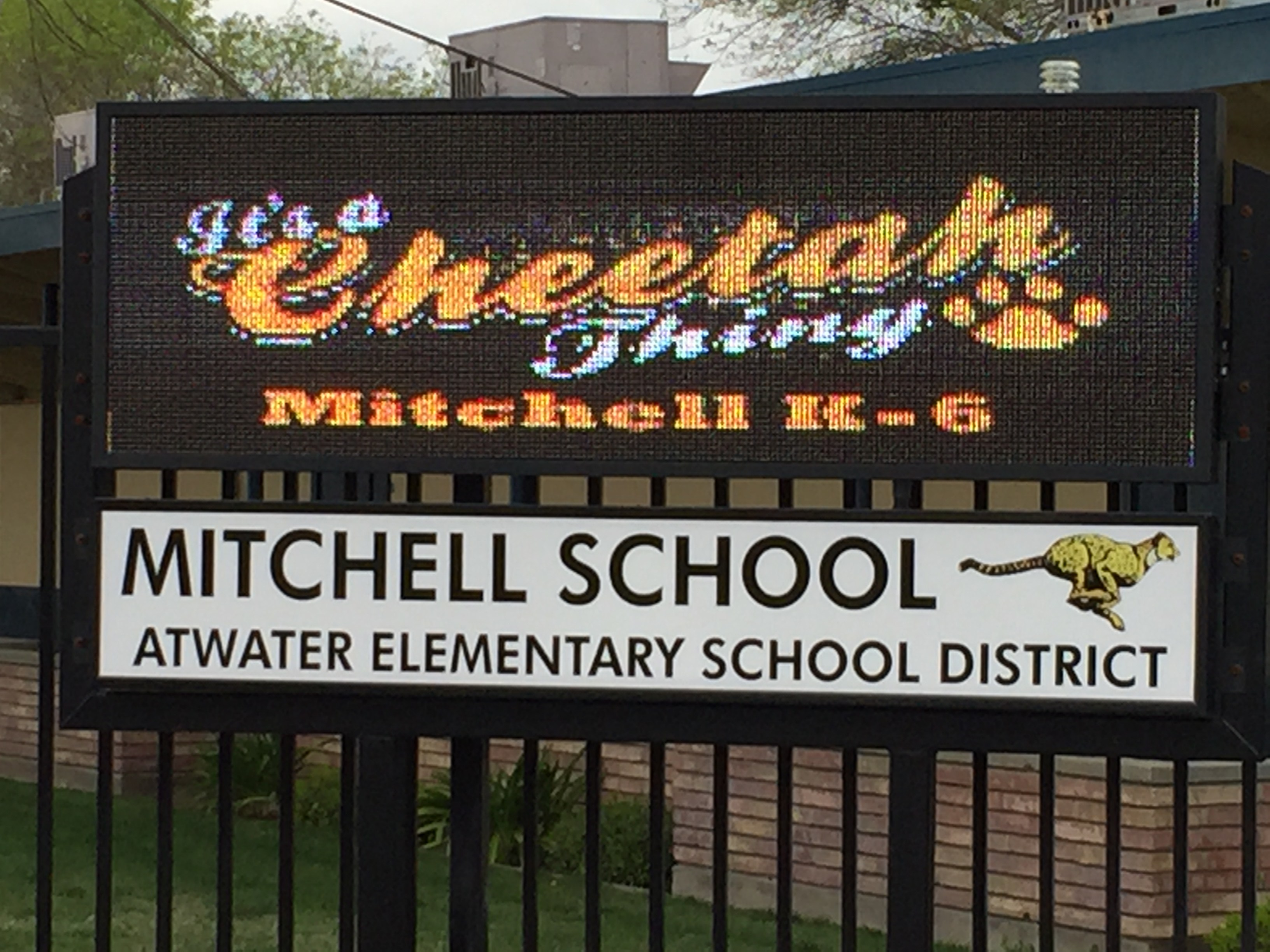 Mitchell School Sign- It's a Cheetah Thing!