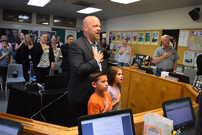 Students Lead Pledge at March Board Meeting Thumbnail Image