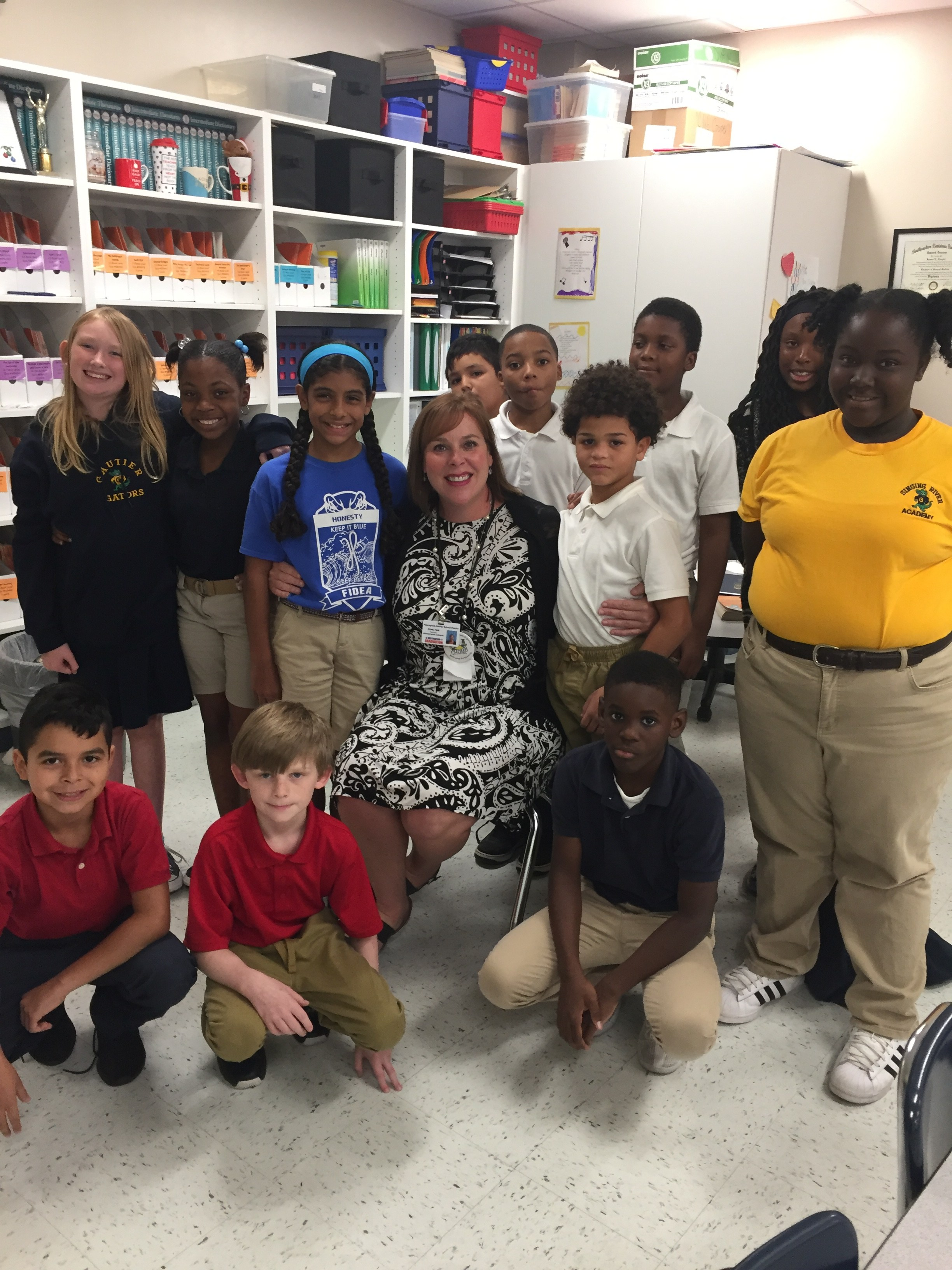 Ms. Rone with students