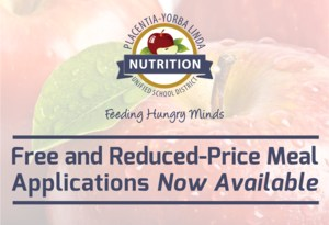 Free and Reduced-Price Meal Applications graphic.