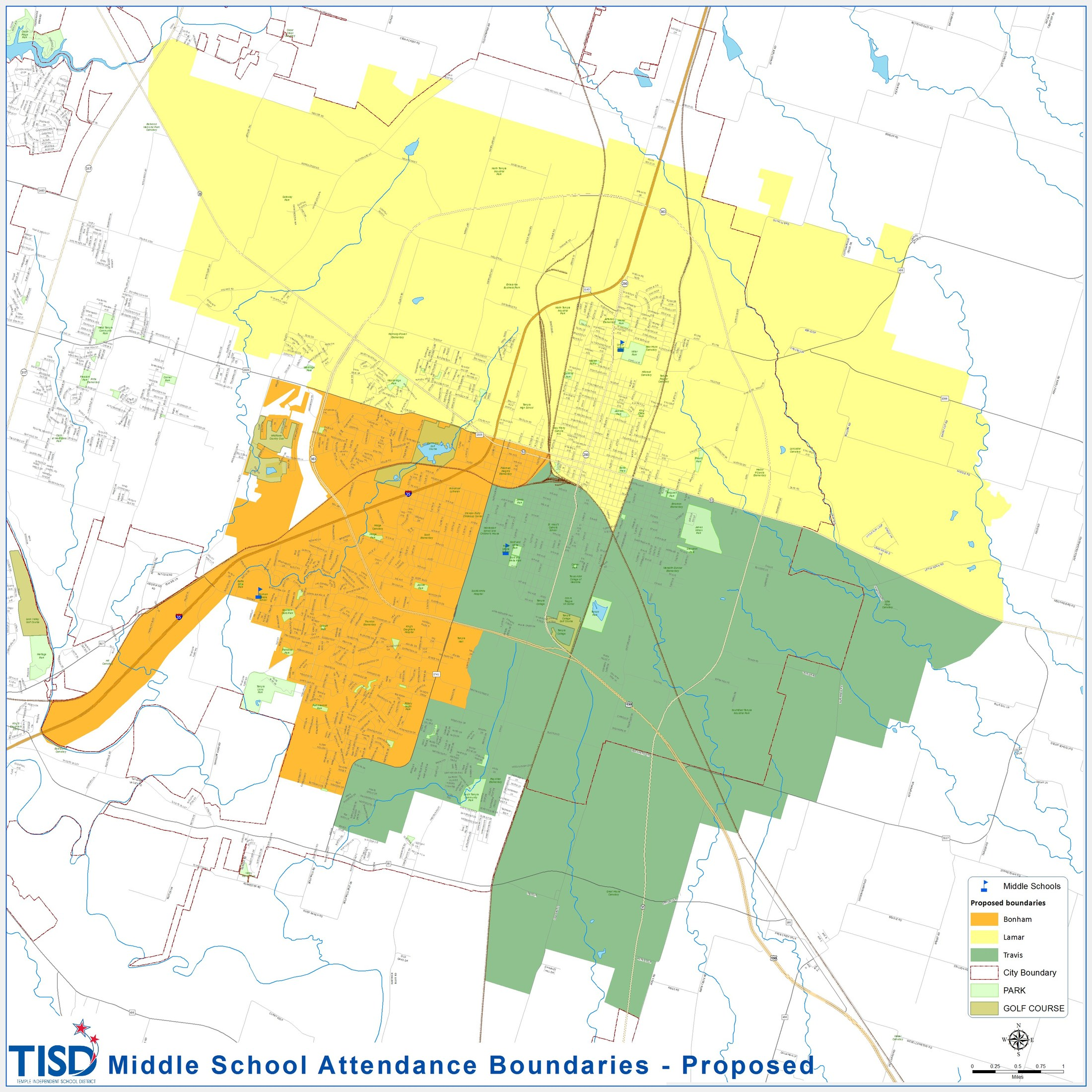 District Map District Map Temple Independent School District