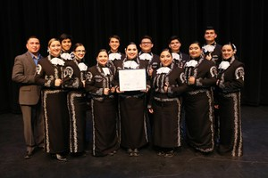 VMHS Mariachi Toros de Plata were recently presented a certificate of participation.