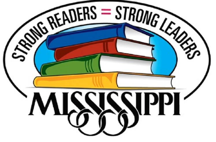 Mississippi logo with books