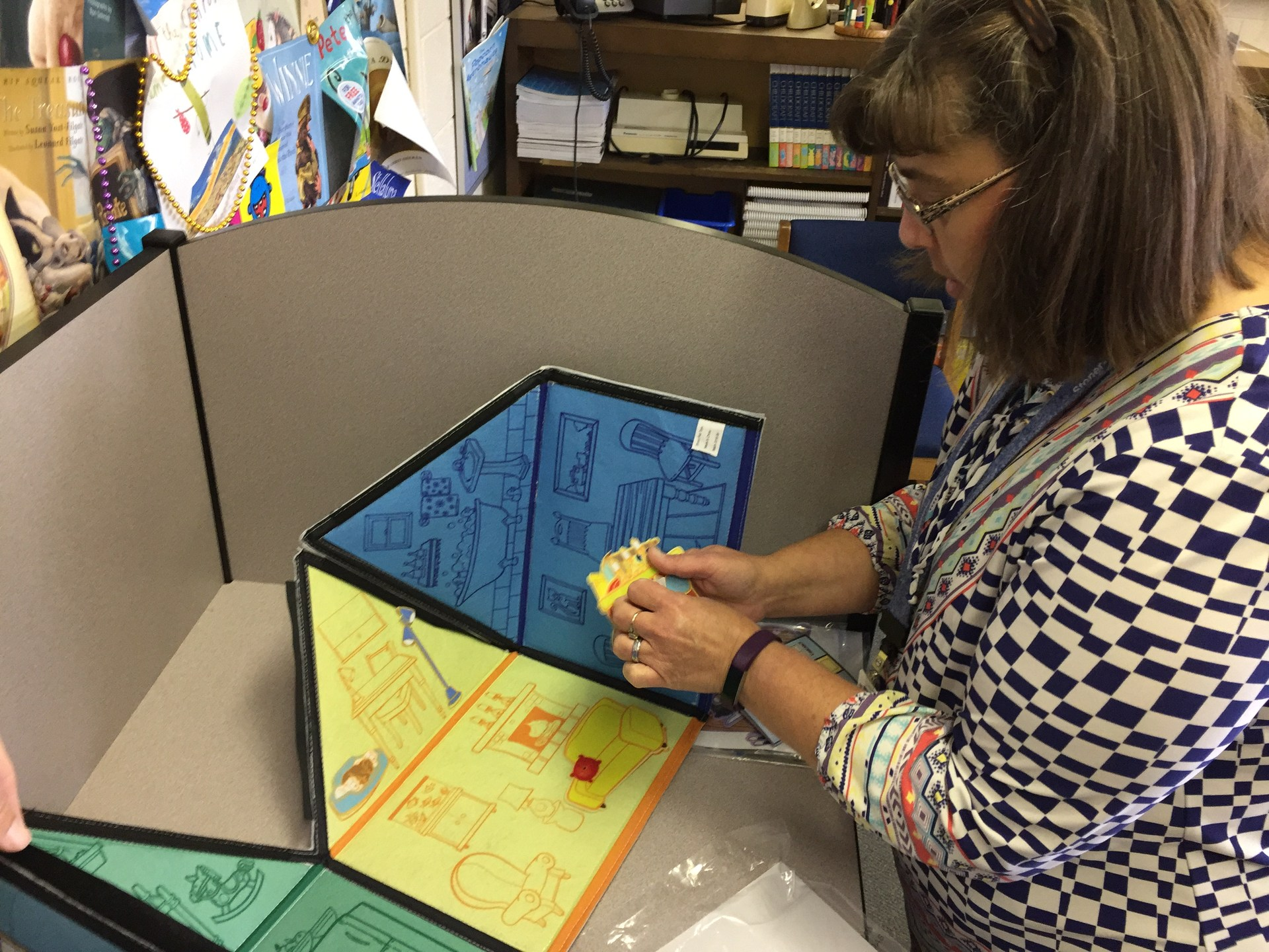 Thanks, Donors Choose, for helping get sensory materials for Stoner-Thomas media center!