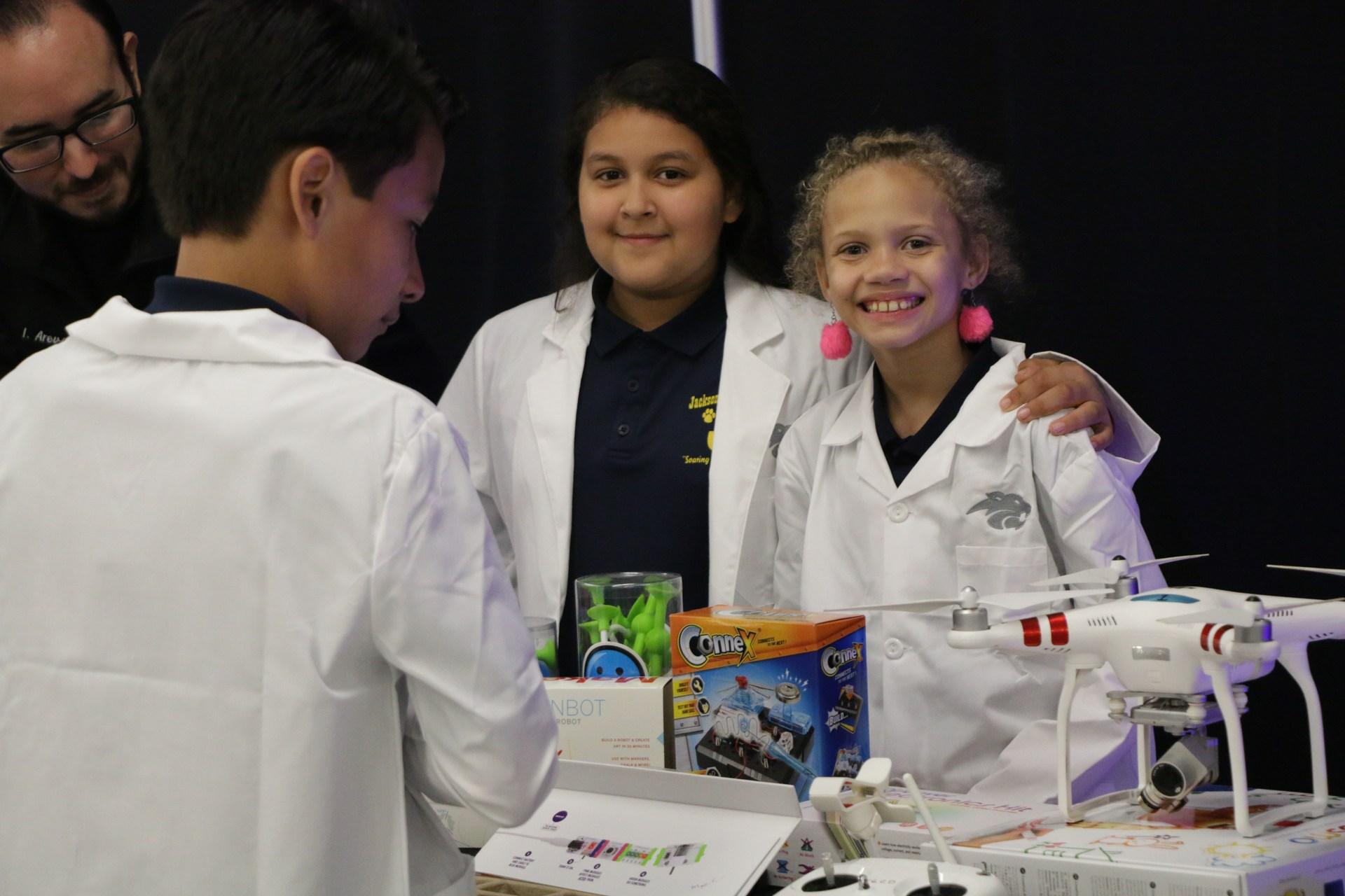 robotics student show off skills
