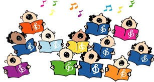 cartoon image of childrens choir