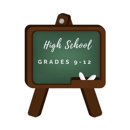 high school logo decorative