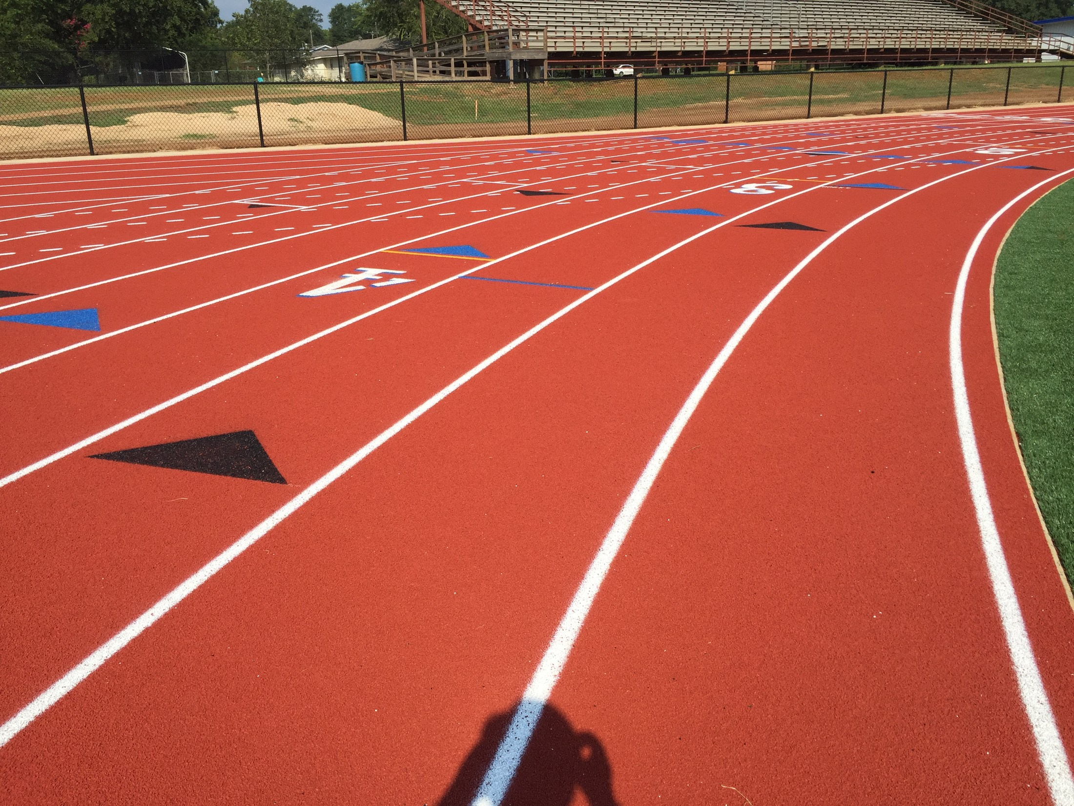 view of the track at Cook Field