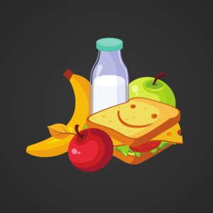 sandwhich and fruit