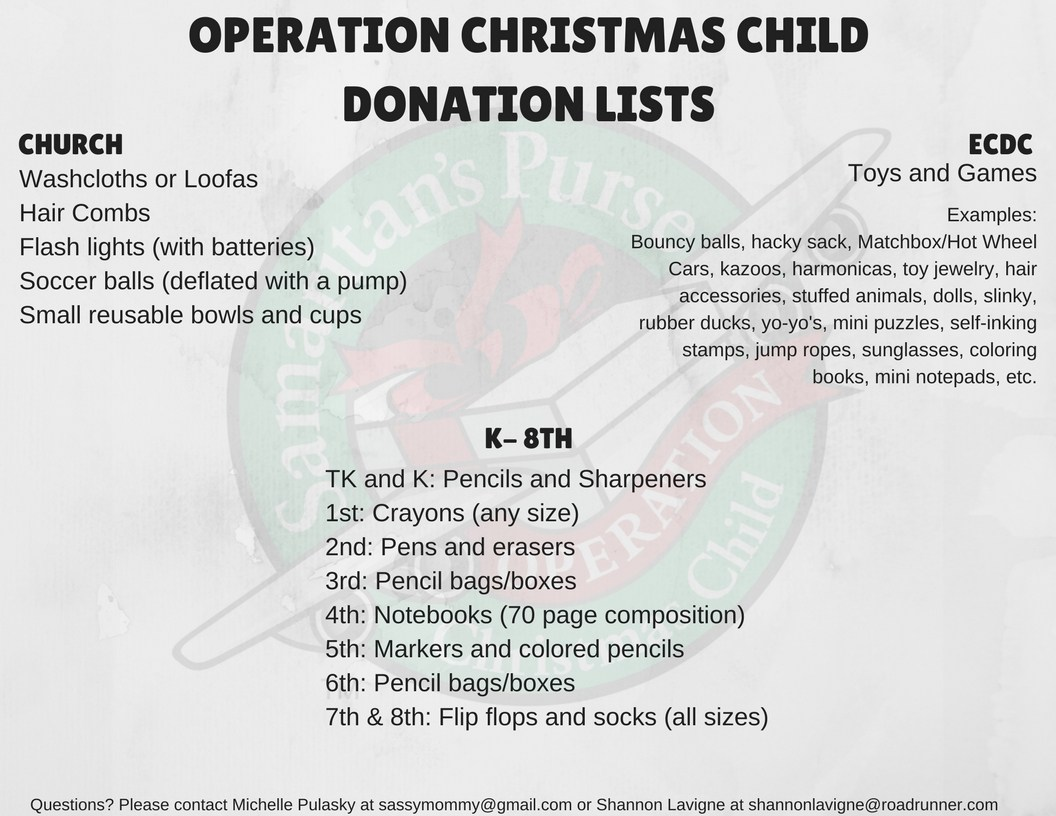 operation christmas child upcoming events st paul s lutheran school