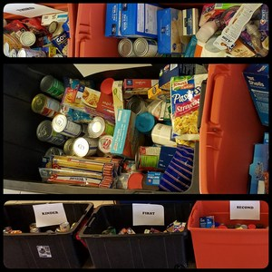 Food items from Mountain Creek Elementary