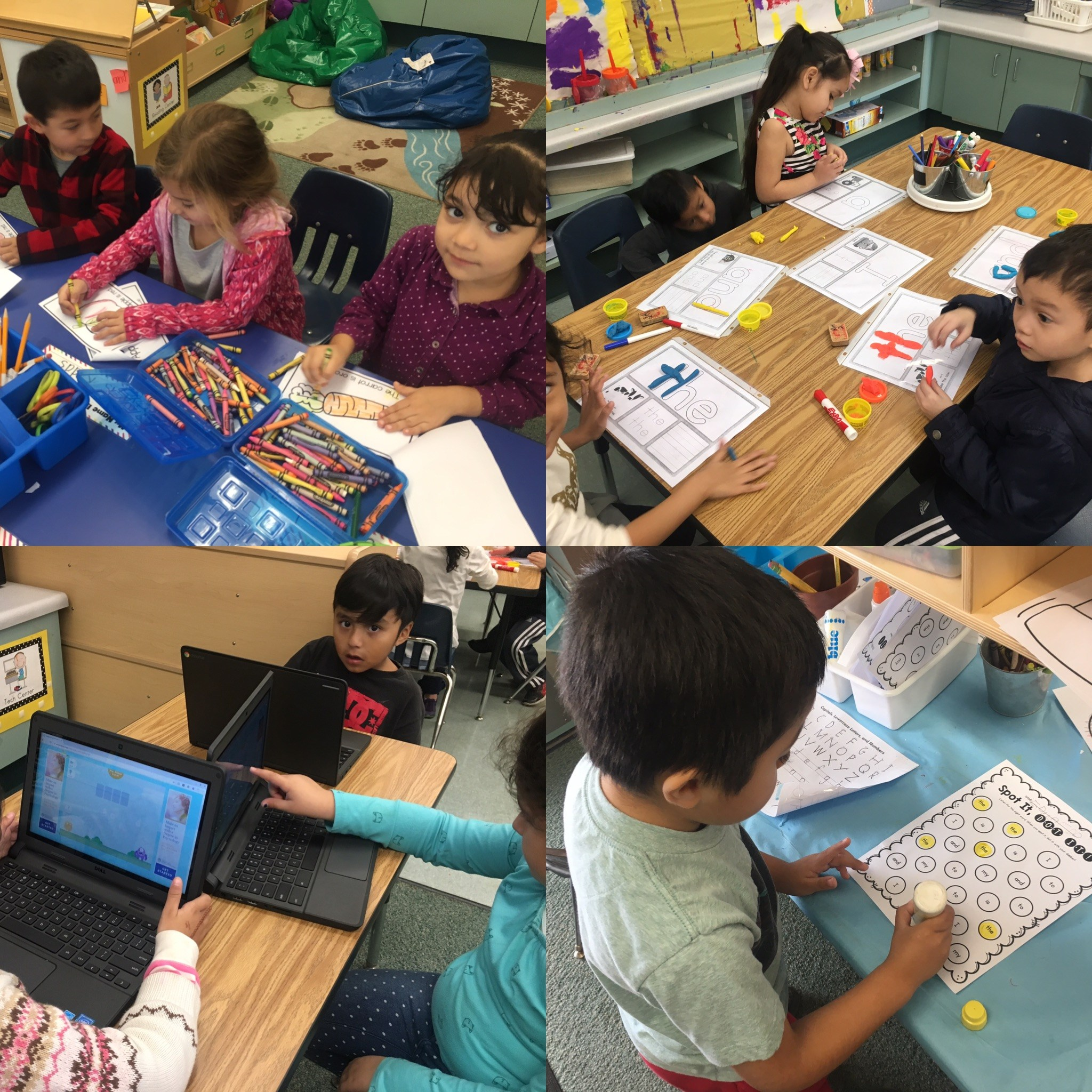 TK students working on rotation stations (centers)