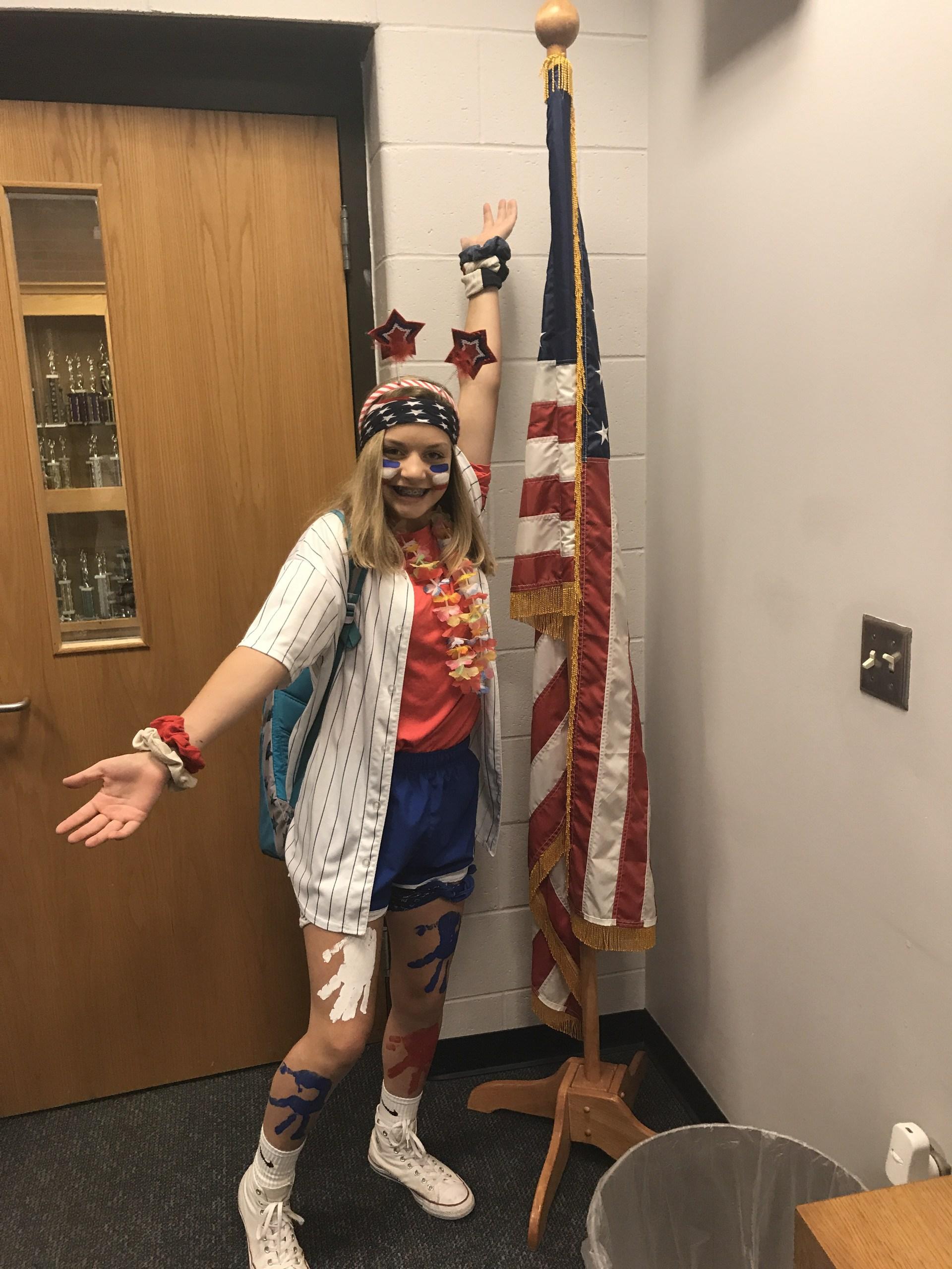 Flag Student