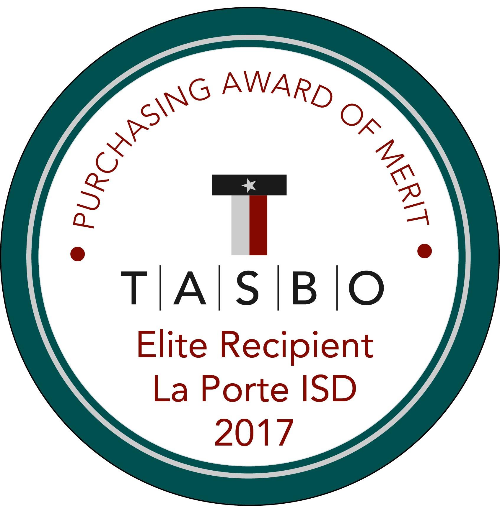 TASBO award: Purchasing Award of Merit 2017 Elite Recipient