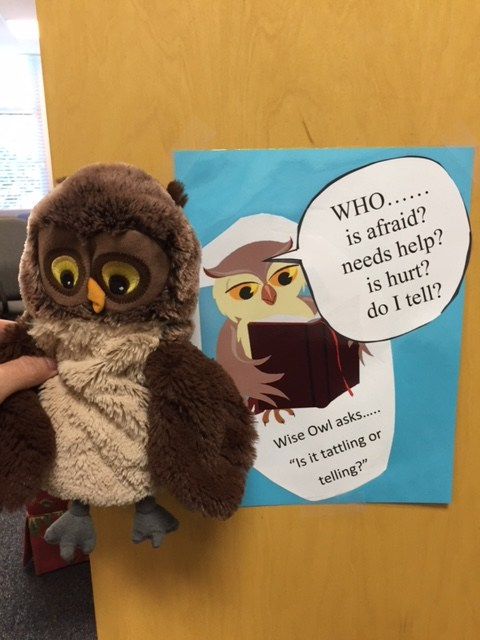 Wise Owl helps teach tattling v. telling