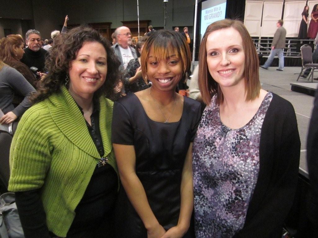 Mrs. Hammock and Mrs. Blankenship with All-State Choir member, Uvandria Blakemore.