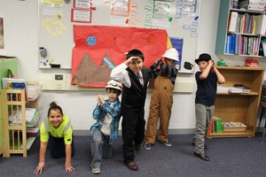 Students present on the history of mining in Colorado.