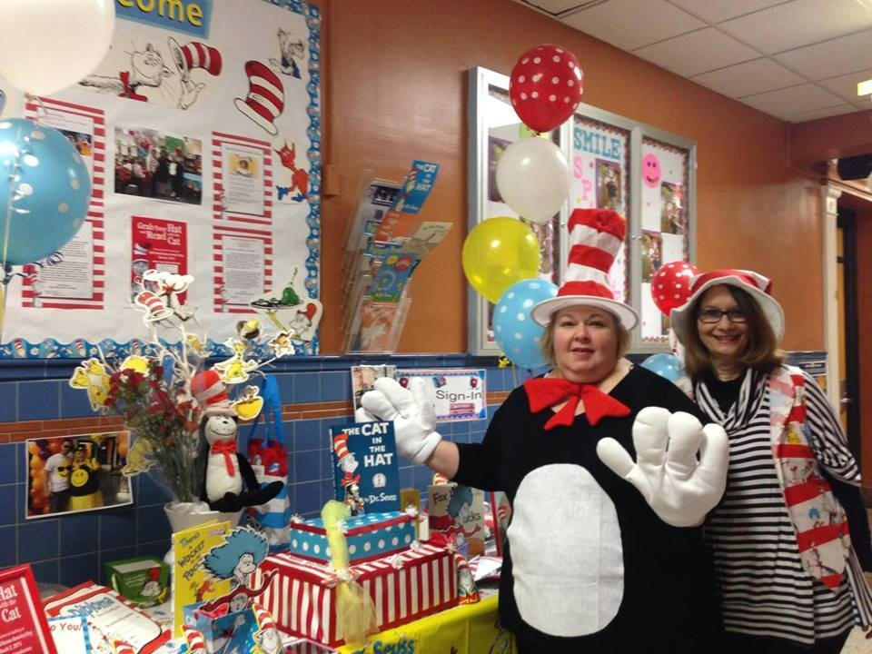 Parent Liaison Maria Kanick dressed Cat in the Hat