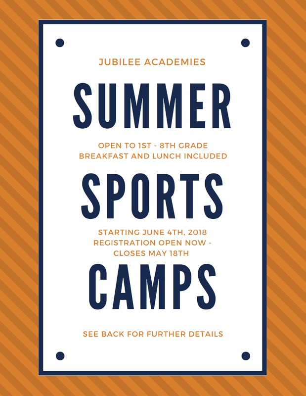 JUBILEE SUMMER SPORTS CAMPS ARE HERE! Featured Photo
