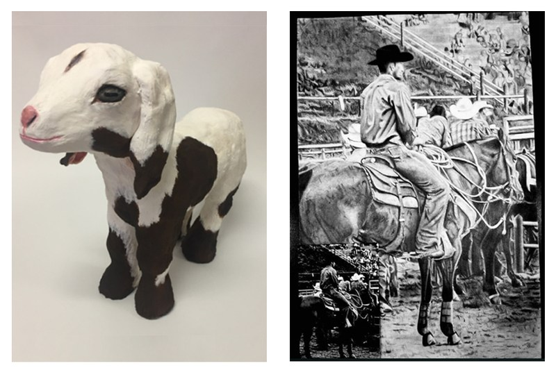 VEHS STUDENTS PLACE TOP 25 & TOP 50 in SA STOCK SHOW & RODEO WESTERN ART COMPETITION Thumbnail Image