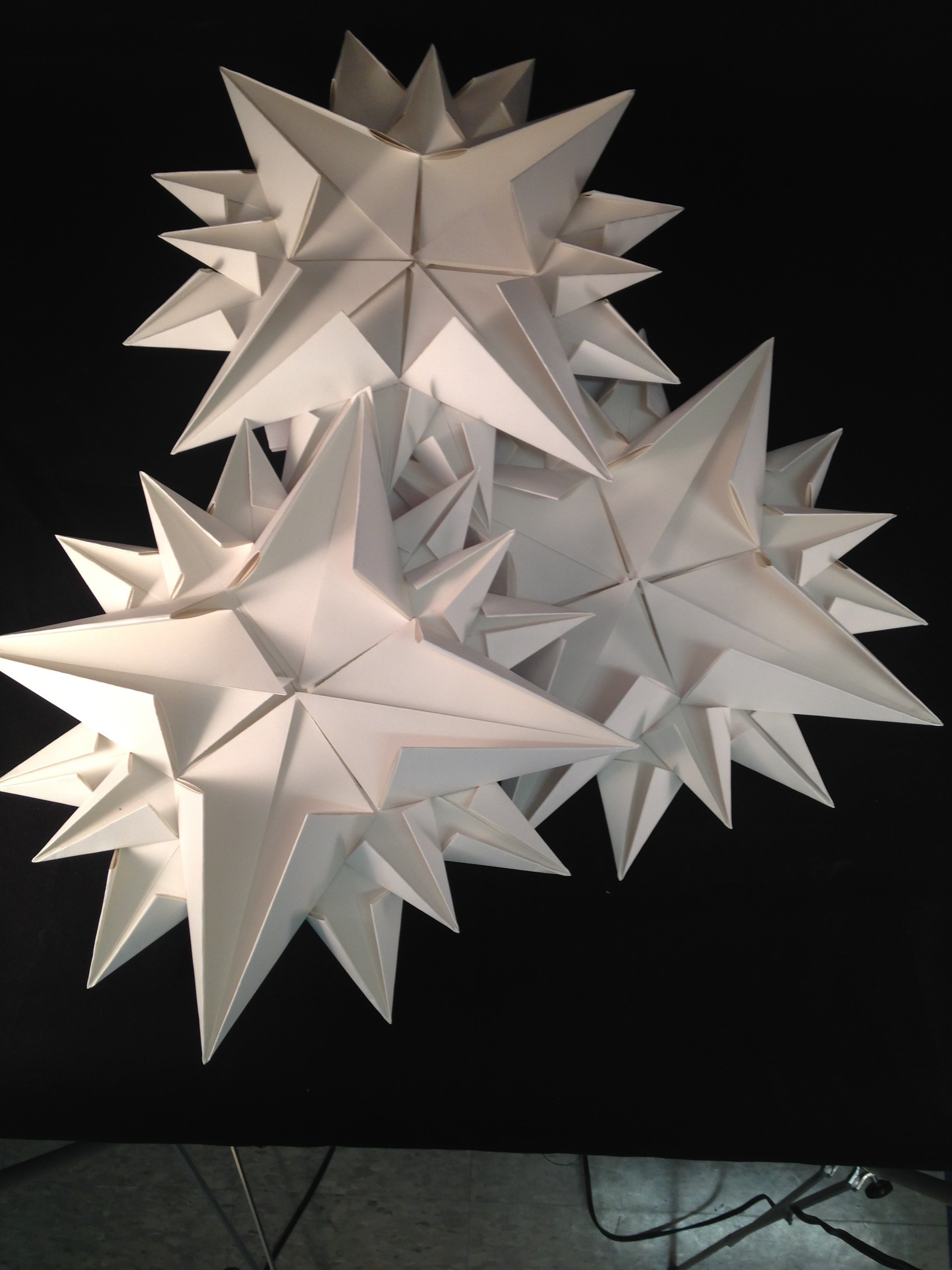 paper sculpture of stars