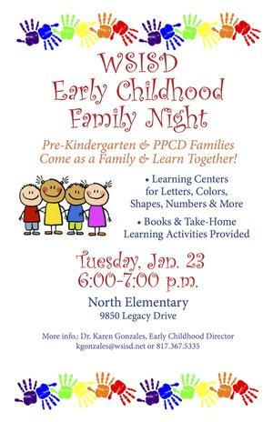 Early Childhood Family Night English