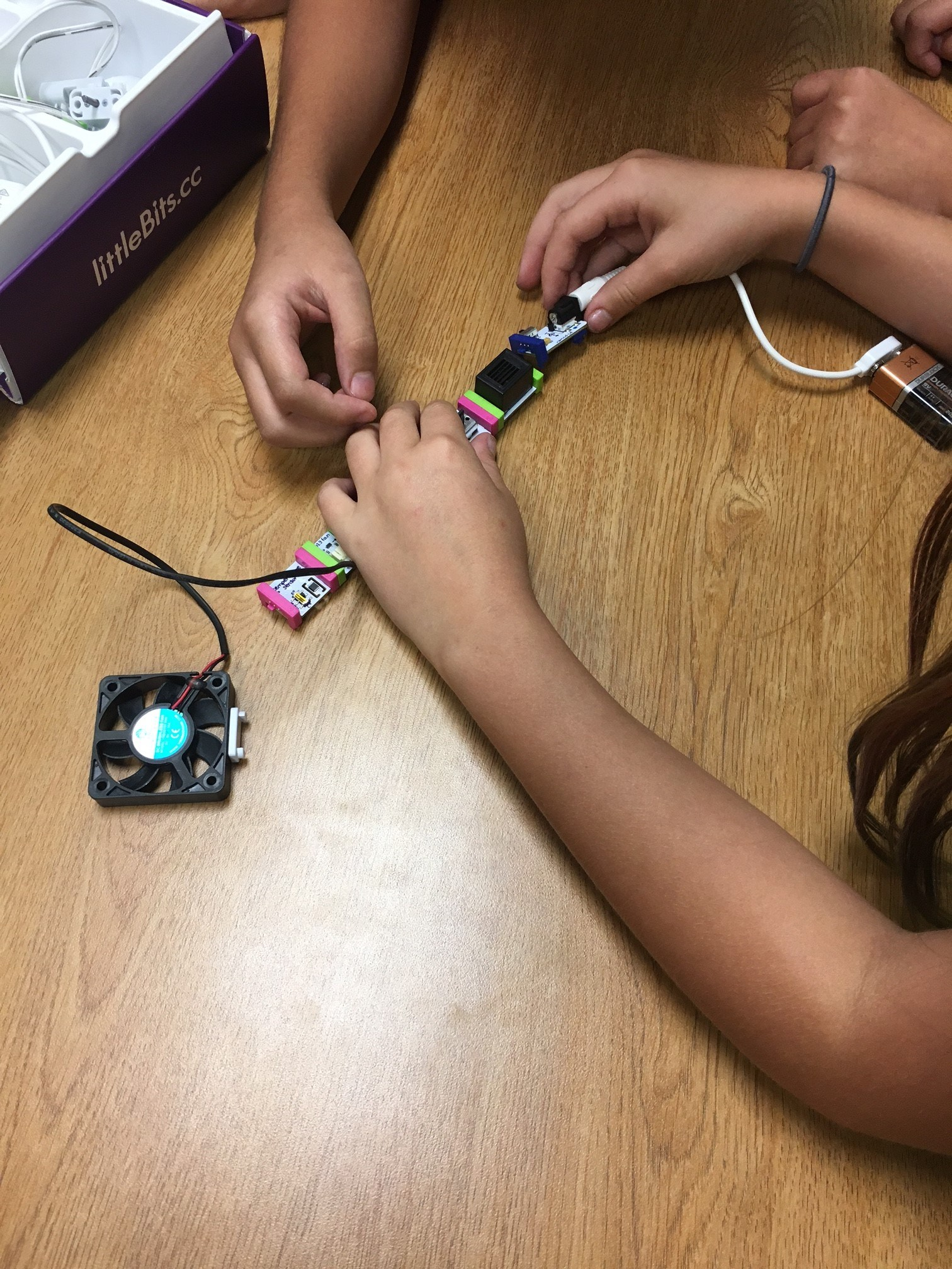Working with littleBits Circuit Board Kits