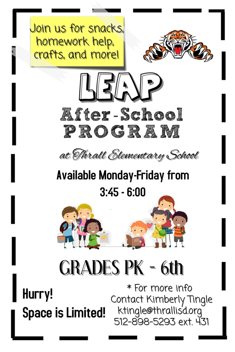 LEAP After School Program at Thrall ISD! Thumbnail Image
