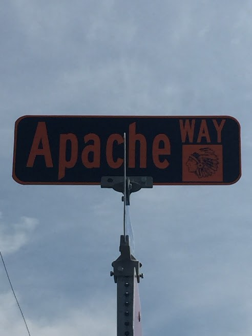 Apache Way Road Sign